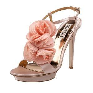 Badgley Mischka Randee T-Strap Flower Heels
